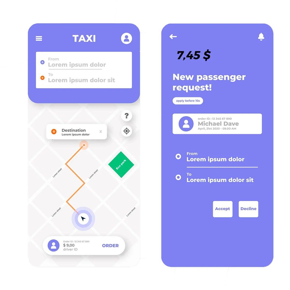 diseño app tipo uber
