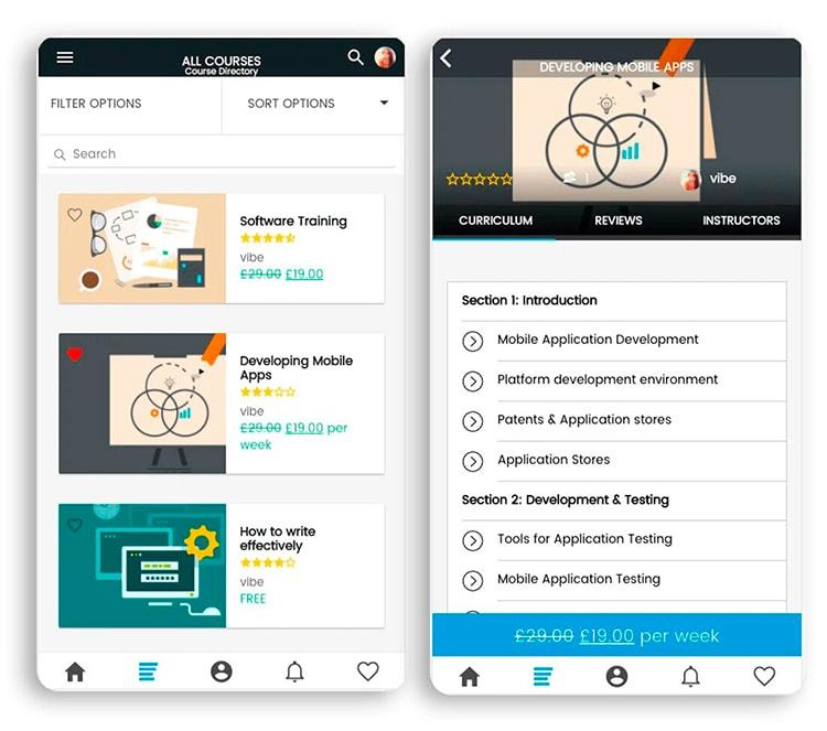 concevoir des applications de cours en ligne
