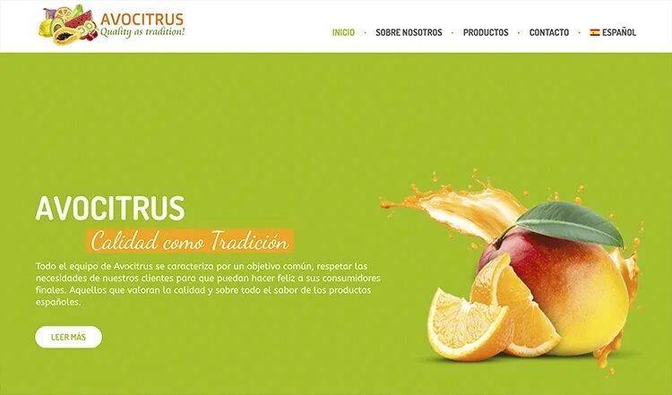 Website zum Thema Bio-Export