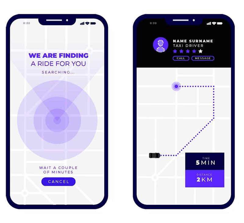 créer une application de taxi
