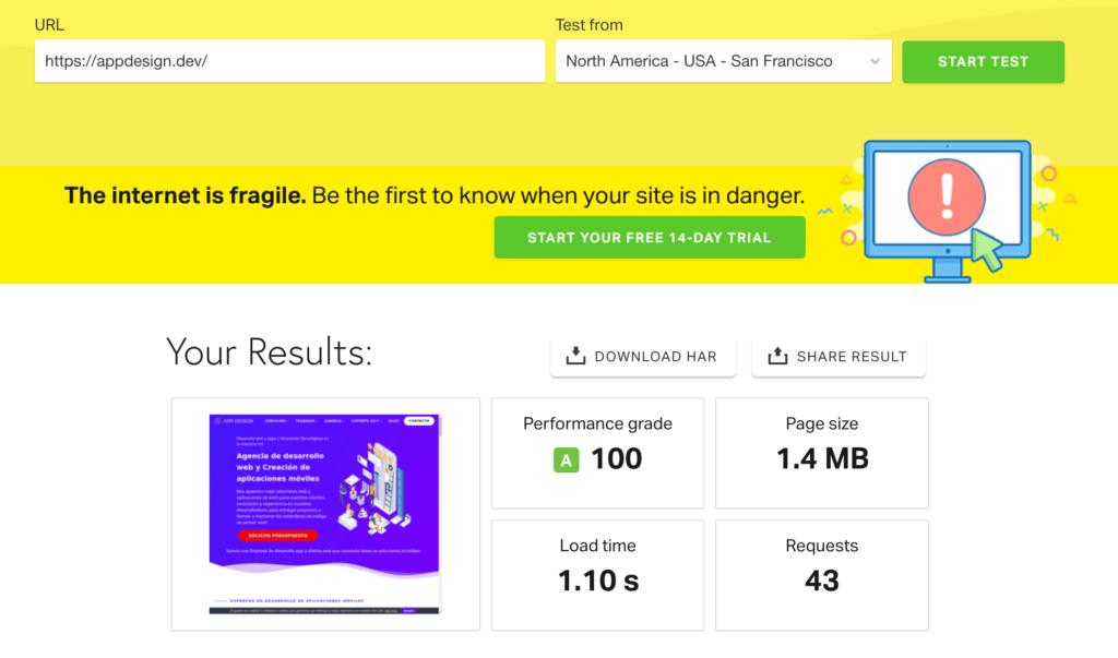 mejorar velocidad web usa