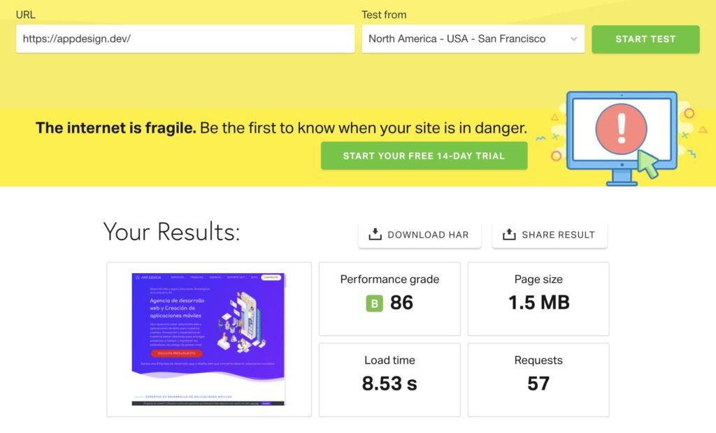 resolver problema velocidad web