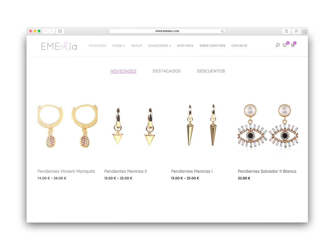 crear tienda online joyería