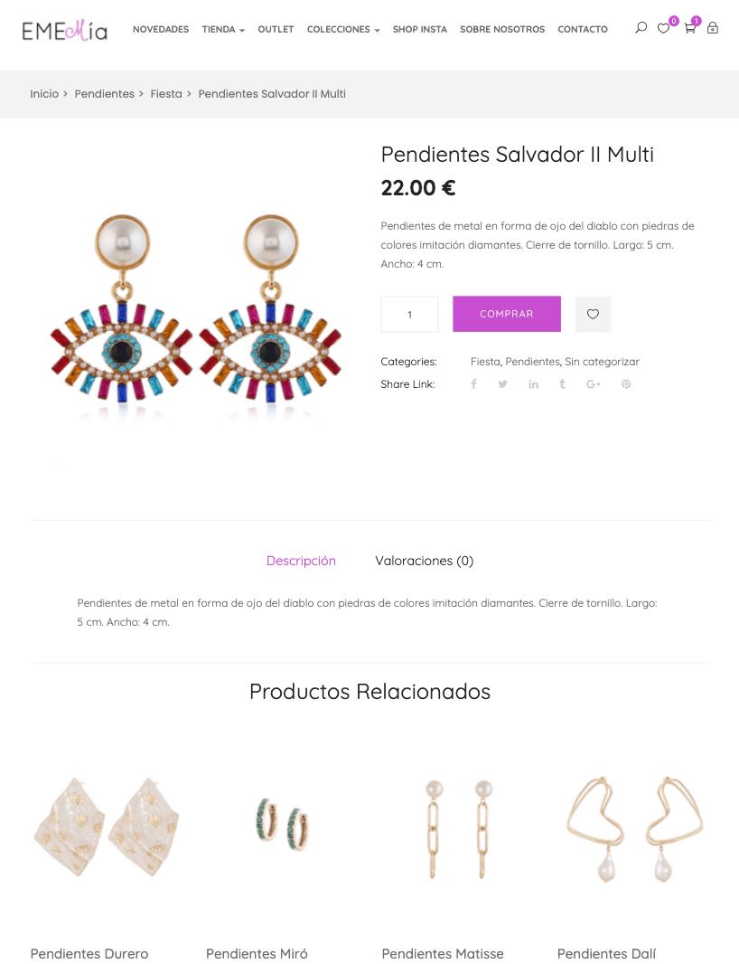producto individual joyería
